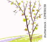 spring landscape with fresh... | Shutterstock .eps vector #129858158