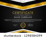 certificate template with frame ... | Shutterstock .eps vector #1298584399