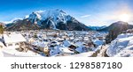 old town of mittenwald - bavaria - stock photo