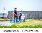 shooting sports. team workouts  ... | Shutterstock . vector #1298595826