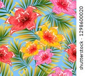 seamless pattern of a tropical... | Shutterstock .eps vector #1298600020