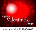 valentine's day greeting card | Shutterstock .eps vector #1298600443