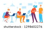 vector illustration with... | Shutterstock .eps vector #1298602276