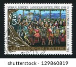 austria   circa 1991  stamp... | Shutterstock . vector #129860819