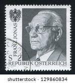 austria   circa 1974  stamp... | Shutterstock . vector #129860834