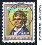 austria   circa 1992  stamp...   Shutterstock . vector #129860909