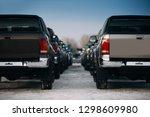 Pickup Suv Cars At The Parking. ...