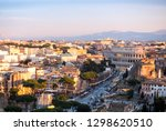 colosseum and street traffic ... | Shutterstock . vector #1298620510