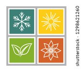 a set of four seasons icons.... | Shutterstock .eps vector #1298621260