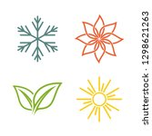 a set of four seasons icons.... | Shutterstock .eps vector #1298621263