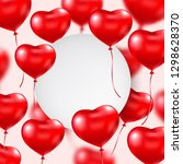 valentines day banner with red... | Shutterstock .eps vector #1298628370