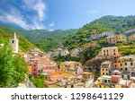 colorful multicolored buildings ... | Shutterstock . vector #1298641129