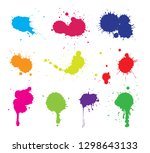 color paint splashes.paint... | Shutterstock .eps vector #1298643133