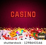 casino dice banner signboard on ...   Shutterstock .eps vector #1298643166