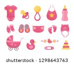 baby born vector illustration... | Shutterstock .eps vector #1298643763