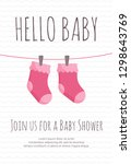 baby girl arrival and shower... | Shutterstock .eps vector #1298643769