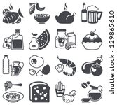 icons set  food and drink