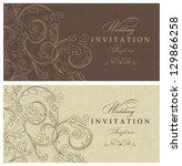 wedding invitation cards... | Shutterstock .eps vector #129866258