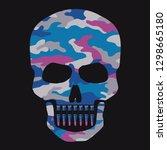 skull camouflage illustration ... | Shutterstock .eps vector #1298665180