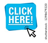 click here button with arrow... | Shutterstock .eps vector #1298679220