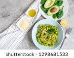 cooked green spinach... | Shutterstock . vector #1298681533