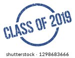 class of 2019 blue round stamp | Shutterstock .eps vector #1298683666