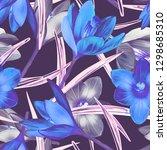 illustration of crocus flower... | Shutterstock . vector #1298685310