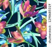 illustration of crocus flower... | Shutterstock . vector #1298685319