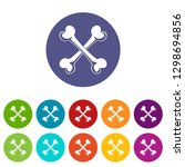 bone icons color set for any... | Shutterstock . vector #1298694856