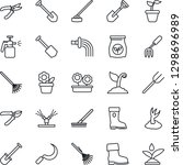 thin line icon set   job vector ... | Shutterstock .eps vector #1298696989