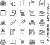 thin line icon set   book... | Shutterstock .eps vector #1298697013