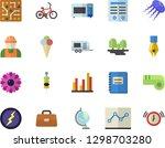 color flat icon set builder... | Shutterstock .eps vector #1298703280