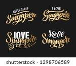 singapore logo set  lettering ... | Shutterstock .eps vector #1298706589