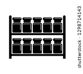 jars on racks  spices storage | Shutterstock .eps vector #1298714143