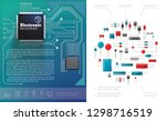 flat electronic components... | Shutterstock .eps vector #1298716519