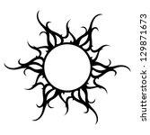 vector ornament  abstract sun ... | Shutterstock .eps vector #129871673