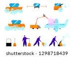 set of vector illustrations of... | Shutterstock .eps vector #1298718439