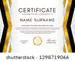 certificate template with... | Shutterstock .eps vector #1298719066