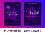 neon flyer. dynamic gradient... | Shutterstock .eps vector #1298730256