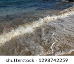 soft wave of blue ocean on... | Shutterstock . vector #1298742259