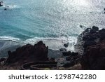 unique black sand beach at el... | Shutterstock . vector #1298742280