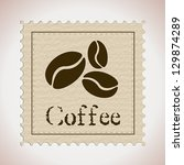 coffee stamp. coffee concept | Shutterstock .eps vector #129874289