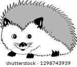 black and white drawing of a... | Shutterstock .eps vector #1298743939