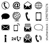 simple web icons set   contact... | Shutterstock .eps vector #1298750176