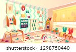 vector montessori room with... | Shutterstock .eps vector #1298750440