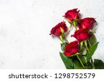 Red Roses Flower Bouquet On...