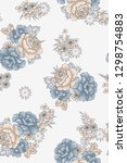 floral flower with grey color | Shutterstock . vector #1298754883