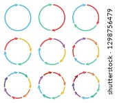 vector circle arrows for... | Shutterstock .eps vector #1298756479