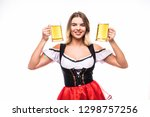 young surprised sexy swiss... | Shutterstock . vector #1298757256