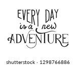 hand drawn vector lettering...   Shutterstock .eps vector #1298766886